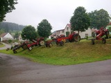 Výstava traktorů v obci